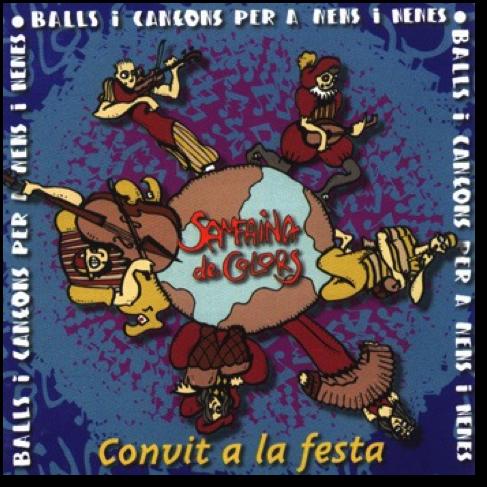 Caràtula CD- Convit a la festa-Samfaina de Colors