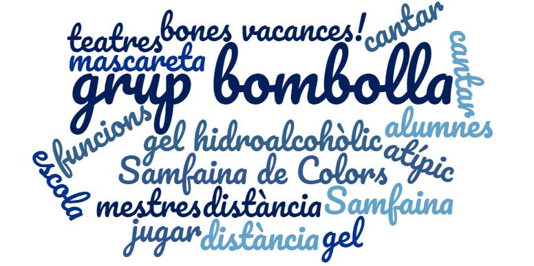 El curs 2020-21 marcat per tòpics relacionats amb la pandèmia de la Covid19 i les mesures sanitàries. Final de curs a l'escola Sagrada Família